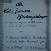 Dyplom uczestnictwa