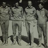 Reprezentacja Polski na VIII Mistrzostwach Świata w Łowiectwie Podwodnym - Kuba 1967. od prawej Zbigniew Zajączkowski, Andrzej Zinserling, Jerzy Macke i Wiesław Roguski.