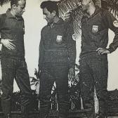 Reprezentacja Polski na VIII Mistrzostwa Świata na Kubie - 1967. Od lewej Zinserling, Zajączkowski i Macke.